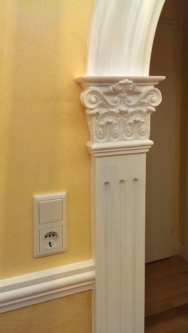 exklusive wandgestaltung mit stuck und marmorino in. Black Bedroom Furniture Sets. Home Design Ideas